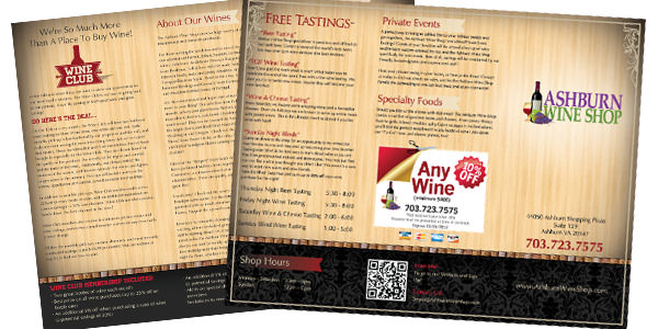 Ashburn Wine Shop Brochure