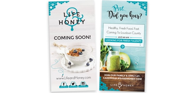 Life & Honey Banners, Posters, Signage