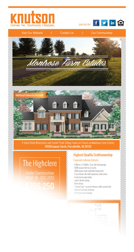 Summit Realtors Knutson Mail Chimp Email Newsletter