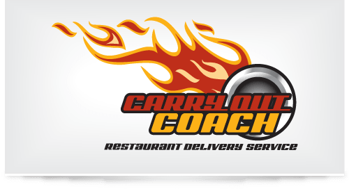 Logo design for Carryout Coach Food Delivery Service