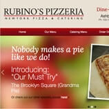 Graphic Design, Menu Design, and Website Design and Development for Rubino's Pizzeria